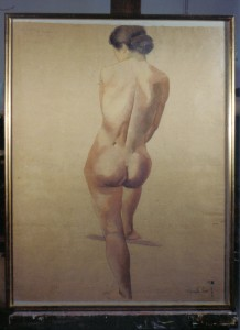Nu de dos, aquarelle sur papier (ENSBA Paris 1943)