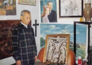 Dans son atelier, Paris (1977)