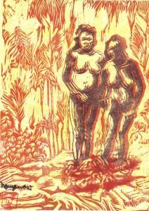 Femmes des Haut-plateaux, estampe (vers 1972)