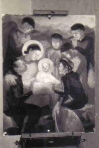 La nativité, huile sur toile (Hanoï 1954)