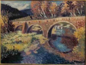 Le pont aux trois dents, huile sur toile (Paris, vers 1977)