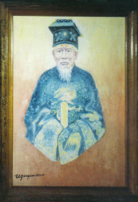 Le prince poète Tuy Ly, huile sur toile (Hué 1997)